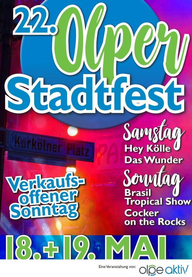 22. Stadtfest Olpe am 18. + 19 Mai 2019
