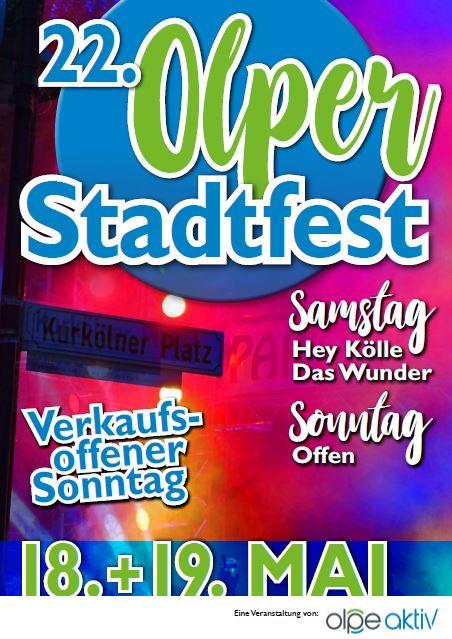 Plakat Stadtfest Olpe 2019